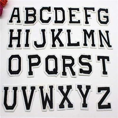 رقعات حروف إنجليزية صغيرة مطرزة من Bbutie لملابس المكواة ورقعة
