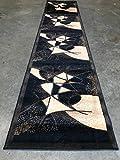 Cheap Gallery Modern Abstract Long Runner Black & BrownContemporary Design GL24 (2 Feet 4 Inch X 10 Feet 11 Inch)