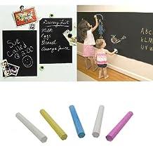 Removable Vinyl Chalkboard Blackboard Wall Sticker Decal 200 X 45cm + 5 chalks DIY