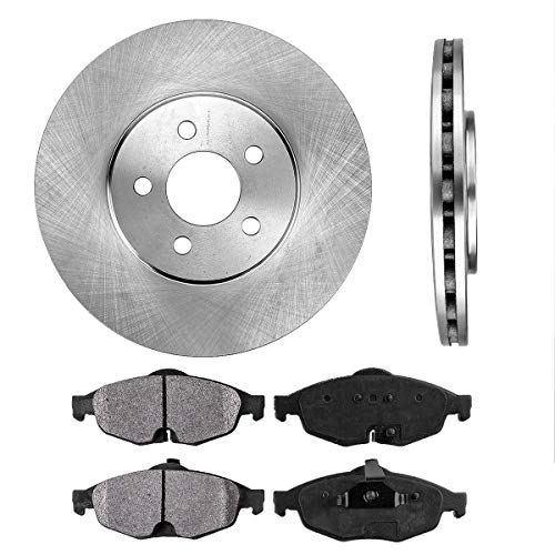 - FRONT 282 mm Premium OE 5 Lug [2] Brake Disc Rotors + [4] Metallic Brake Pads