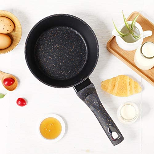 YSNJIN Poêle À Frire Cuisine Multifonction Pot Antiadhésif Nouilles Instantanées avec Poignée pour Bébé Complément Alimentaire
