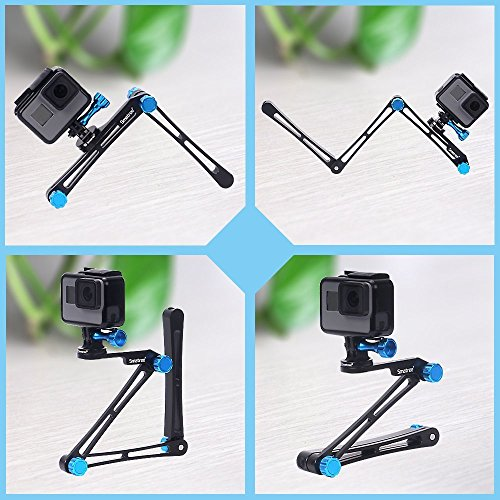 Smatree X1 Aluminium Foldable Pole 3-Way Ajustable Selfie Stick Compatible for GoPro MAX/Hero 8/7/6/5/4/3+/3/Hero(2018)