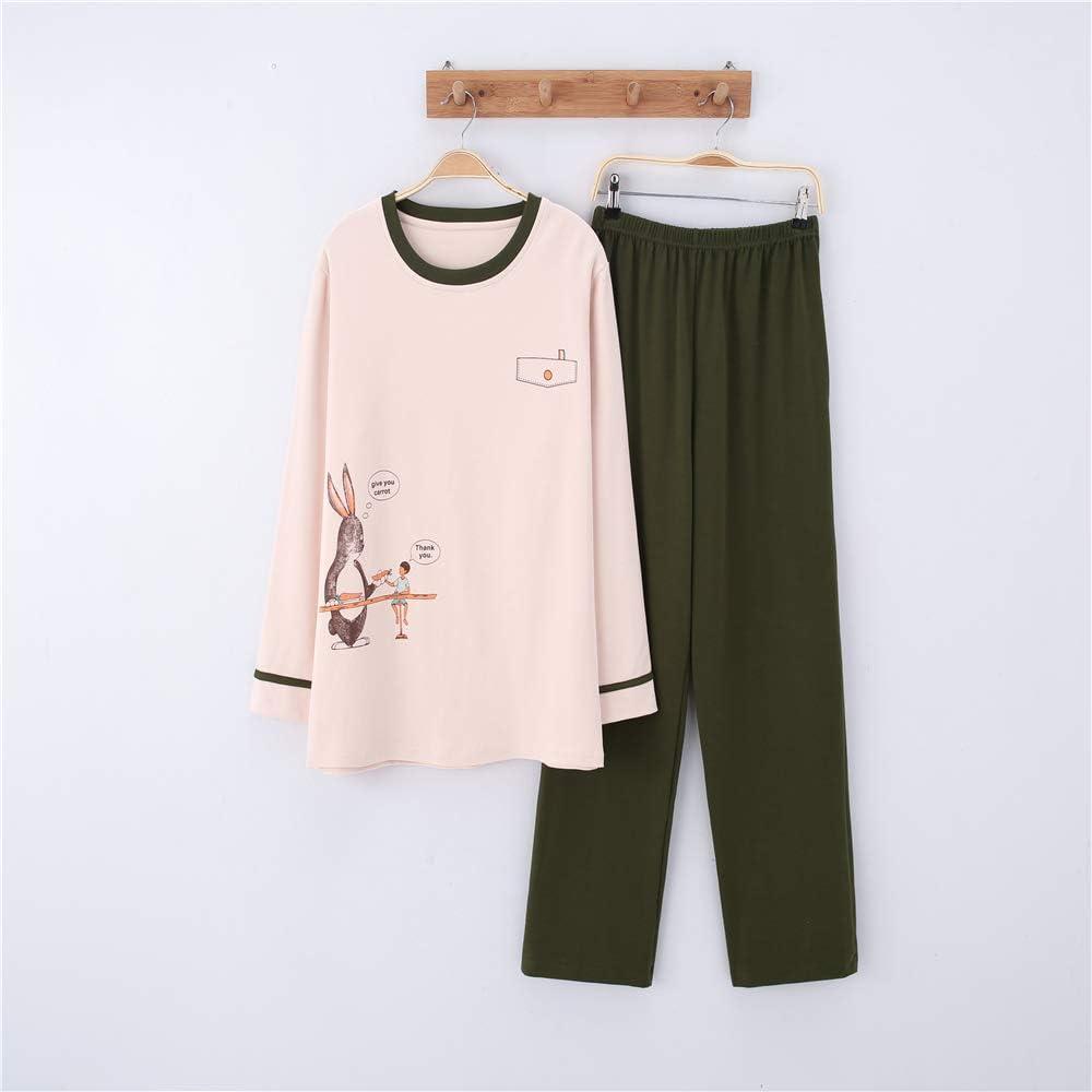 Pijamas Mujer Algodon Ropa de Domir Elegante Manga Pantalon ...