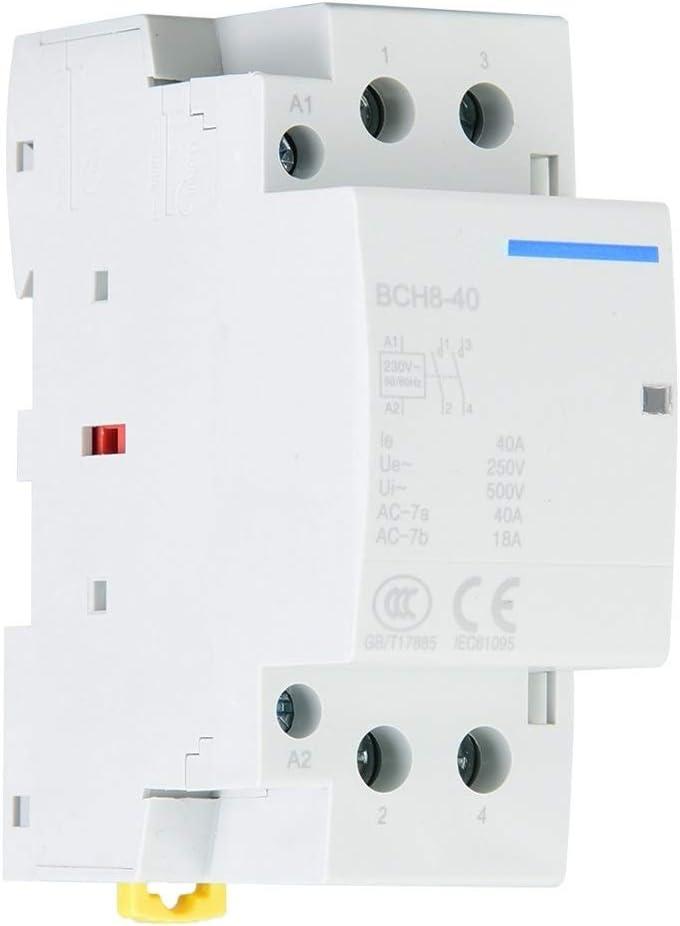 230V Consumo 2P 40A Baja Corriente de la Red de Carril DIN AC contactor 2NO 50 60Hz 220V Victool Contactor de la CA