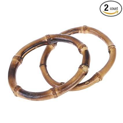 Amazon.com: Cicitop - 2 asas redondas de bambú para bolso de ...
