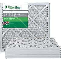 AFB Silver MERV 8 20x22x1 Pleated AC Furnace Air Filter. Pack of 6 Filters. 100% produced in the USA.
