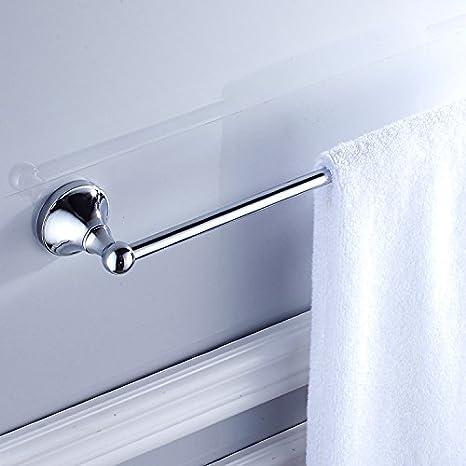 Znzbzt Minimalista de color cobre chapado en cromo palanca única de toallas de baño de porcelana sanitaria de calidad adornos de hardware, palanca única: ...