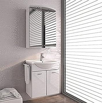 ARCOM Bathroom Furniture Set With Basin Nice 08u2013MINERALGUSS  Illuminated  Mirror Cabinet 2 TüRIG