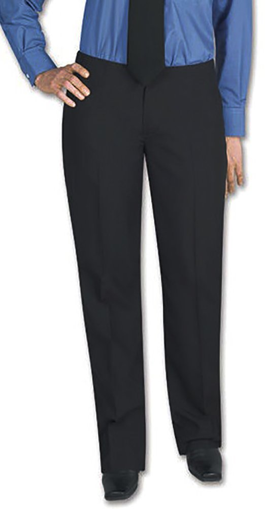 Henry Segal Women's Tuxedo Pants Flat Front Low Rise with Satin Stripe, Size 18