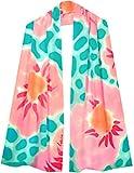 ULRIKE ~ Spring flowers of pinks and oranges float across an aqua Summer sea