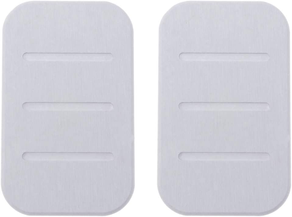 Exceart 2Pcs Diatomite Soap Dish Fast Water Drying Soap Bar Holder Absorbent Soap Saver Clay Coaster Soap Pad Mat Bathroom Shower Accessories White