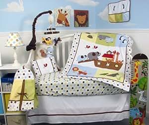 Amazon Com Noah Ark Baby 14 Piece Crib Nursery Bedding