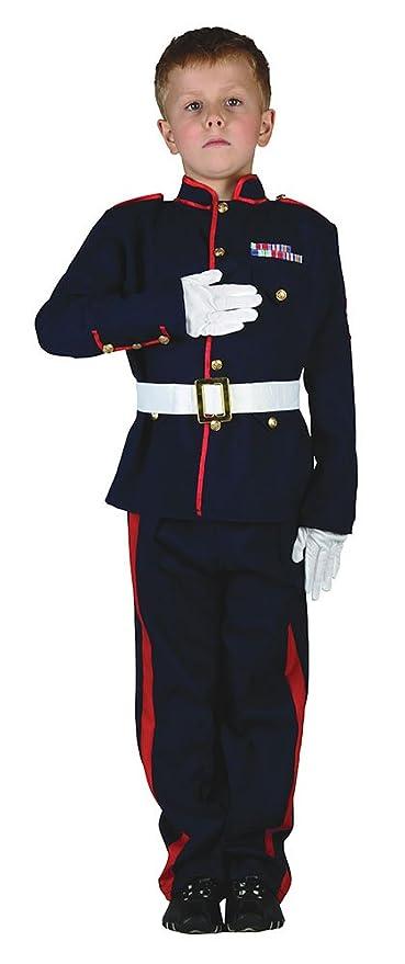 Bristol Novelty CC959 Traje Soldado Ceremonial, Rojo, Mediano, Edad aprox 5-7 años