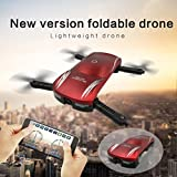 Lookatool 2.4G 4CH Altitude Hold HD Camera WIFI FPV RC Quadcopter Pocket Drone Selfie Foldable, red