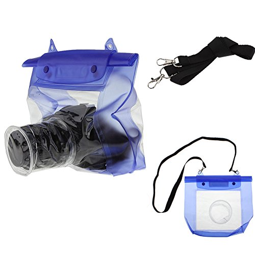 SZTARA Waterproof SLR DSLR Camera Underwater Housing Case Pouch Dry Bag for Canon/Nikon/Sony Suitable for Boating/Rafting/Diving/Camping