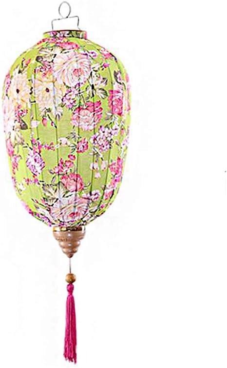 16  Lanterne en Tissu de Style Chinois Lanterne Suspendue Ronde pour Abat-Jour de Mariage Garden Party Hortensia