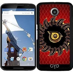 Funda para Motorola Nexus 6 - Monograma Diseño O by nicky2342
