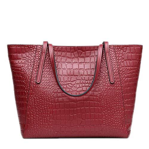en luxe véritable de à Sacs bandoulière cuir à femmes Sacs style Red Wine en de main pour cuir ZqxwXEXH