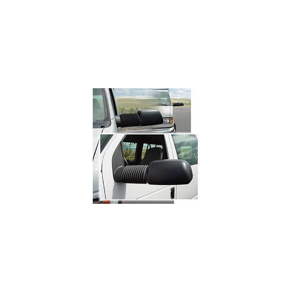 94 02 FORD ECONOLINE VAN e150 e250 e350 e450 TOW MIRROR (PASSENGER SIDE = DRIVER SIDE) VAN, Power w/turn signal, Converts stock manual mirrors to power, One Set (LH & RH), extends up 21 out (1994 94