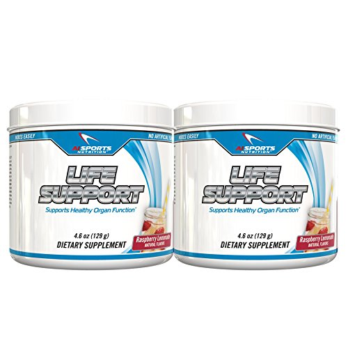 Life Support Powder by AI Sports Nutrition | 30 Servings Twin Pack Amazing Raspberry Lemonade Flavor All Natural No Artificial Flavors & Organ Support *Product does NOT contain Idebenone*