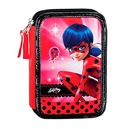 Montichelvo 3628729031 - Estuche triple ladybug