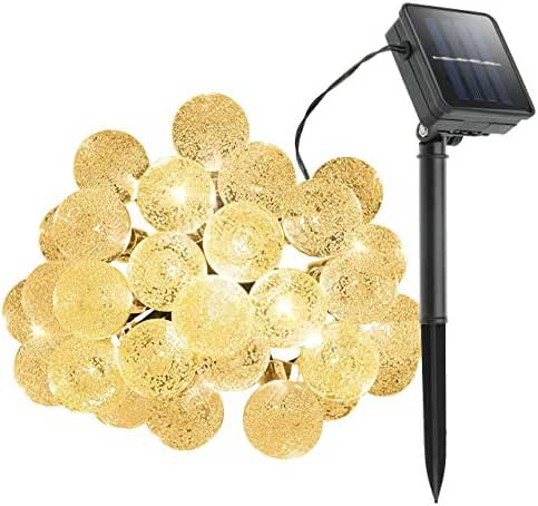Cymas Outdoor String Lights Solar Decorative Light with 30 LED Crystal Ball for Outdoor, Garden, Patio, Deck Decoration