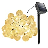 Image of Cymas Outdoor String Lights Solar Decorative Light with 30 LED Crystal Ball for Outdoor, Garden, Patio, Deck Decoration