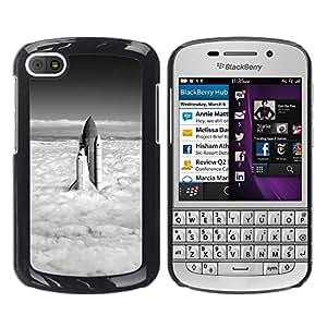 Be Good Phone Accessory // Dura Cáscara cubierta Protectora Caso Carcasa Funda de Protección para BlackBerry Q10 // Rocket