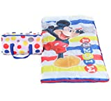 Disney Mickey Mouse Kids Sleeping Bag Slumber Duffle Set