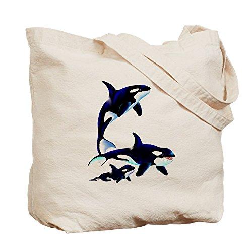 CafePress diseño de familia de Killer Whale–Gamuza de bolsa de lona bolsa, bolsa de la compra