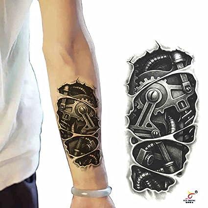 Oottati 2 Hojas Brazo Robótico 3D Tatuajes Temporales TF50: Amazon ...
