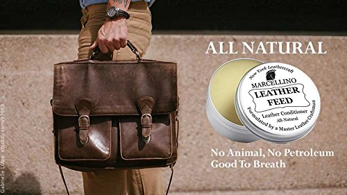 Leather Feed Conditioner | ALL NATURAL | No Animal By-Products | Non-Toxic Care | Marcellino NY | 4oz by Marcellino NY Leathercraft (Image #4)