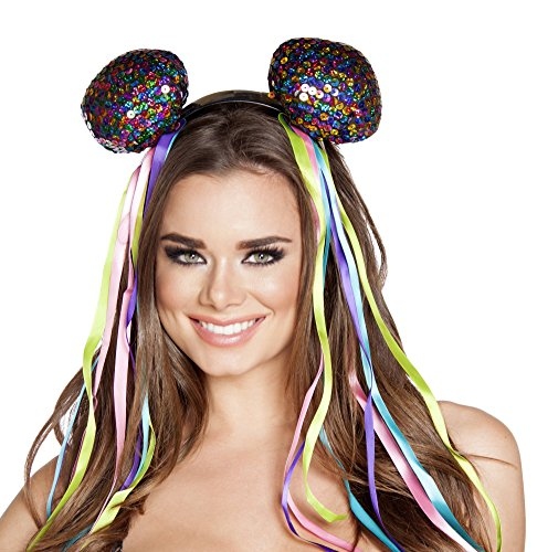 (Deadmau5 Rave Mouse Sequin Ears Headband Costume)