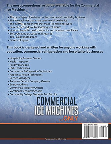 Commercial Ice Machines only: Commercial ice products and