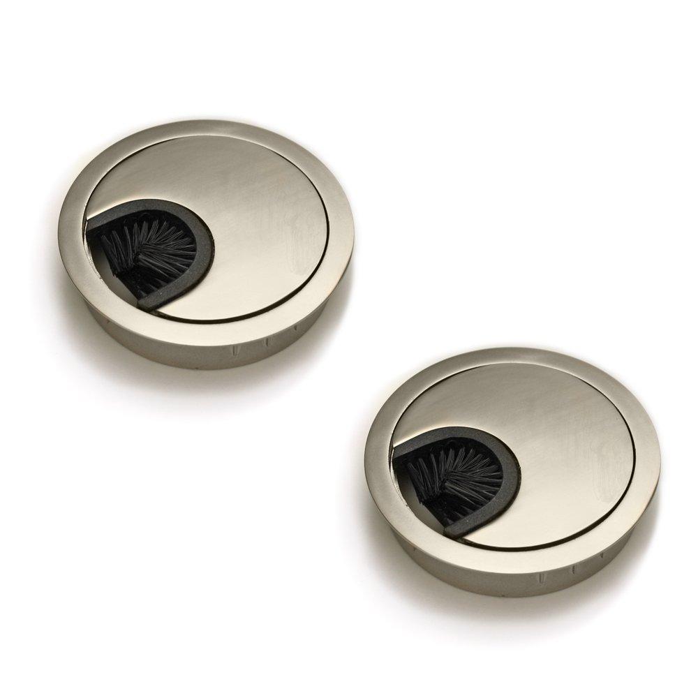 juego de 4 Di/ámetro: 60 mm Pasacables redondos Sossai/® KDM1-ST Material: metal Dise/ño: acero