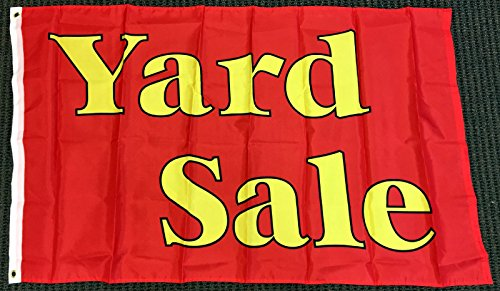 3X5 Yard Sale Red and Yellow Flag Outdoor Business Sales Adv