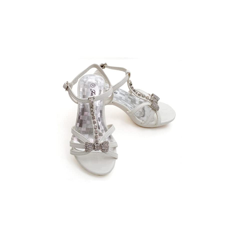 Fabulous Toddler Girls White Rhinestone Pageant Sandal Shoe 9 Fabulous Shoes