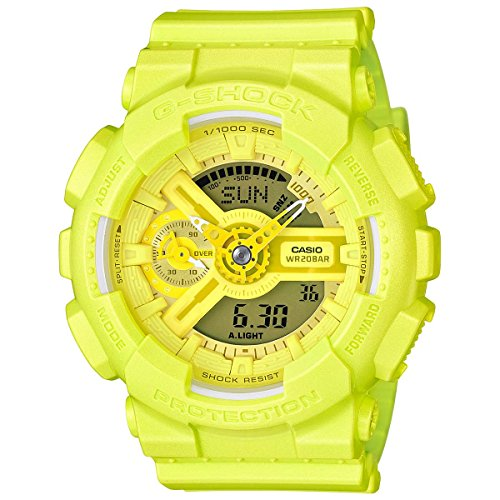 G-Shock GMAS-110VC Bright Vivid Series - Chartreuse Yellow / One Size