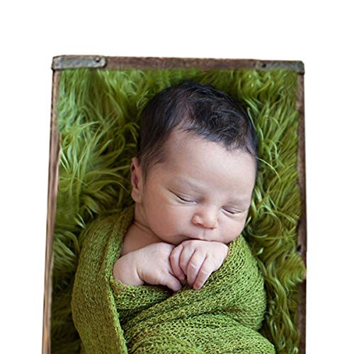 Sunmig Newborn Baby Stretch Wrap Photo Props Wrap-Baby Photography Props (Grass green)