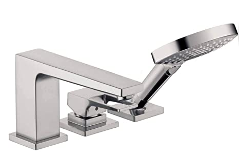 Roman Tub Faucet With Hand Shower 3 Hole.Metropol 3 Hole Roman Tub Set Trim With Loop Handle With 1 8