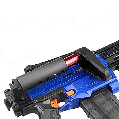 WORKER Collapsible L Shape Shoulder Stock Injection Mold for Nerf N-Strike Elite Color Black: Toys & Games