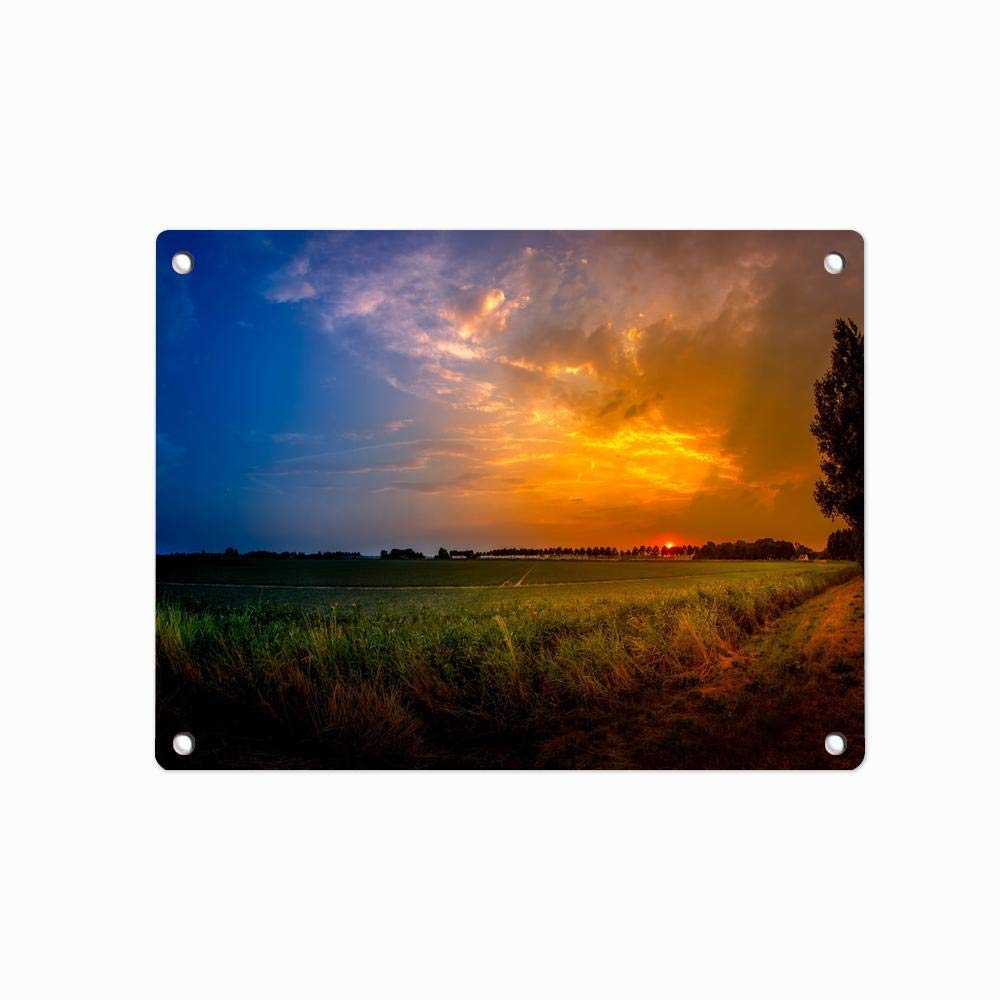Amazon.com: Cracks Ground Clouds Sunset Custom Tin Sign Pin ...