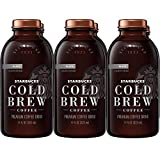 Starbucks Cold Brew Coffee, Black Unsweetened, 11 oz Glass...