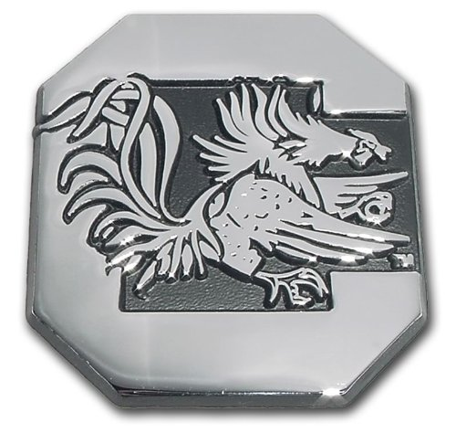 South Carolina Gamecocks Premier Chrome Metal Auto Emblem