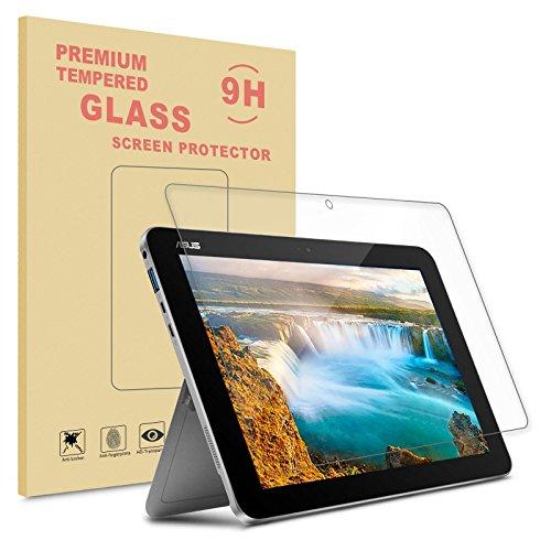 Infiland Asus Transformer Mini T102HA Screen protector, Premium HD clear Tempered Glass Screen Protector for ASUS 10.1 Inch Transformer Mini T102HA-D4-GR 2 in 1 Touchscreen Laptop