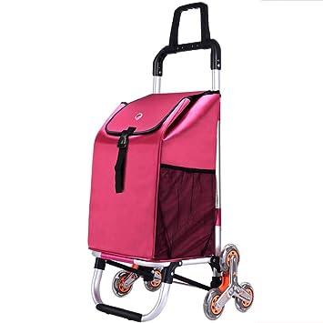 Carro de la compra portátil de aleación de aluminio: subir al piso para comprar carritos