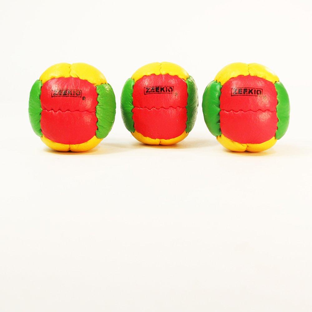 Zeekio Galaxy Juggling Ball Gift Set- 3 Juggling Balls - Yellow/Red/Green-Rasta by Mediatic Labs (Image #1)