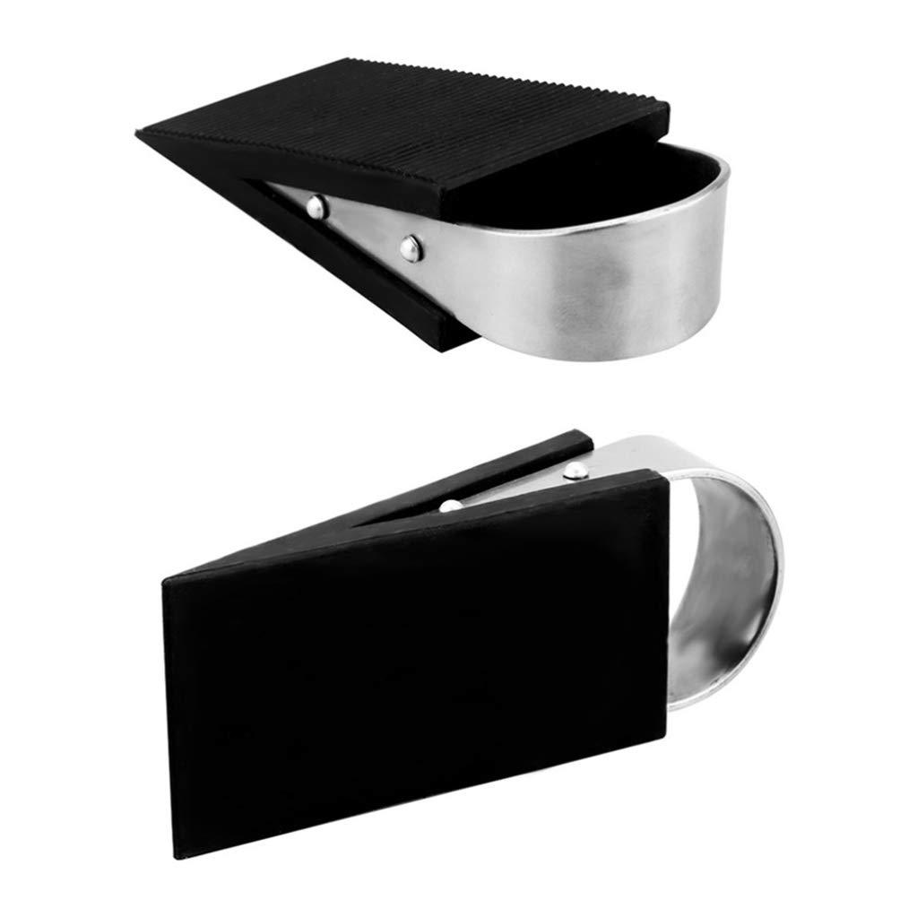 Garneck Door Stopper Rubber Durable Skid Resistance Stainless Steel Door Holder Door Stop Wedge Door Holder for Office Home