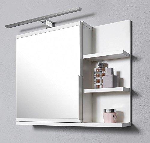 DOMTECH Dom Tech Cuarto de ba/ño Espejo con estantes Armario de ba/ño Espejo Color Blanco Armario con Espejo