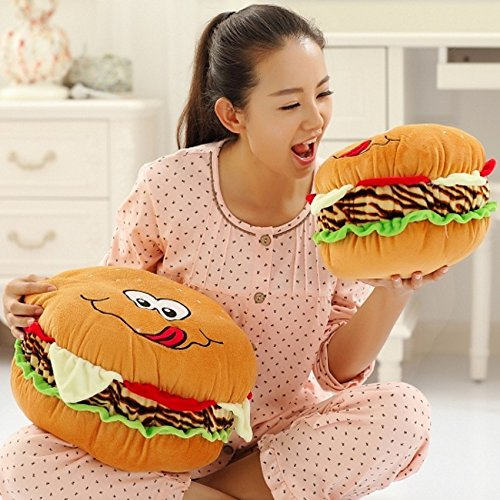 Lovely Plush Stuffed Hamburger Throw Pillow Toy Doll Gift Home Decoration (40cm)